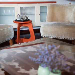 TABU color orange side table - taburete stool TABUHOME®