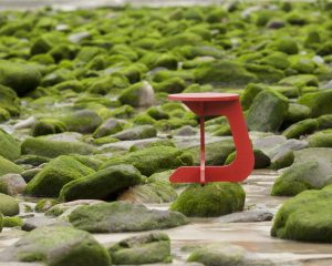 TABU color red - taburete stool TABUHOME®