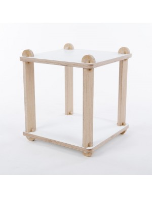 Table stool TABUTECA - modular wood design