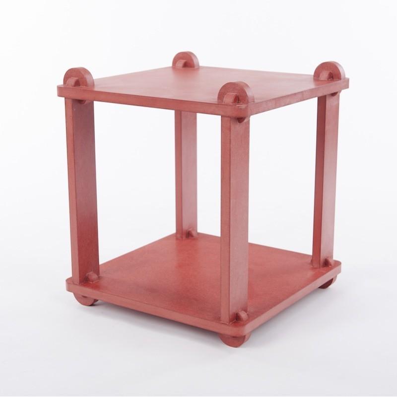 Table stool TABUTECA - Red modular design