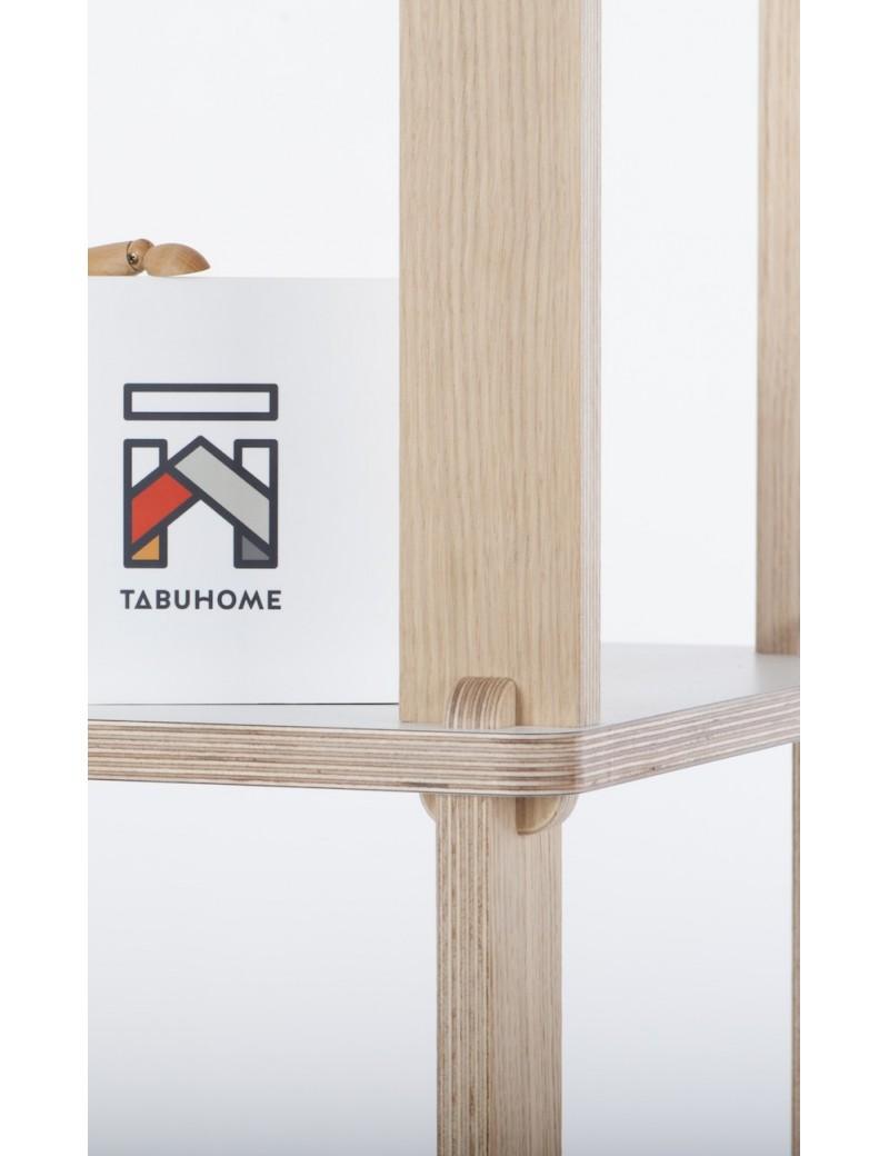 Estantería TABU TECA - estantería modular torre en roble y blanco