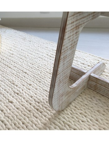 NORDICA - braided white carpet