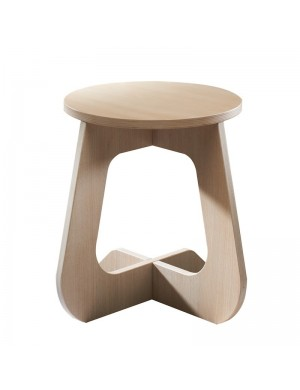 TABU oak - stool translucent white