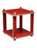 Table stool red TABUTECA - modular design