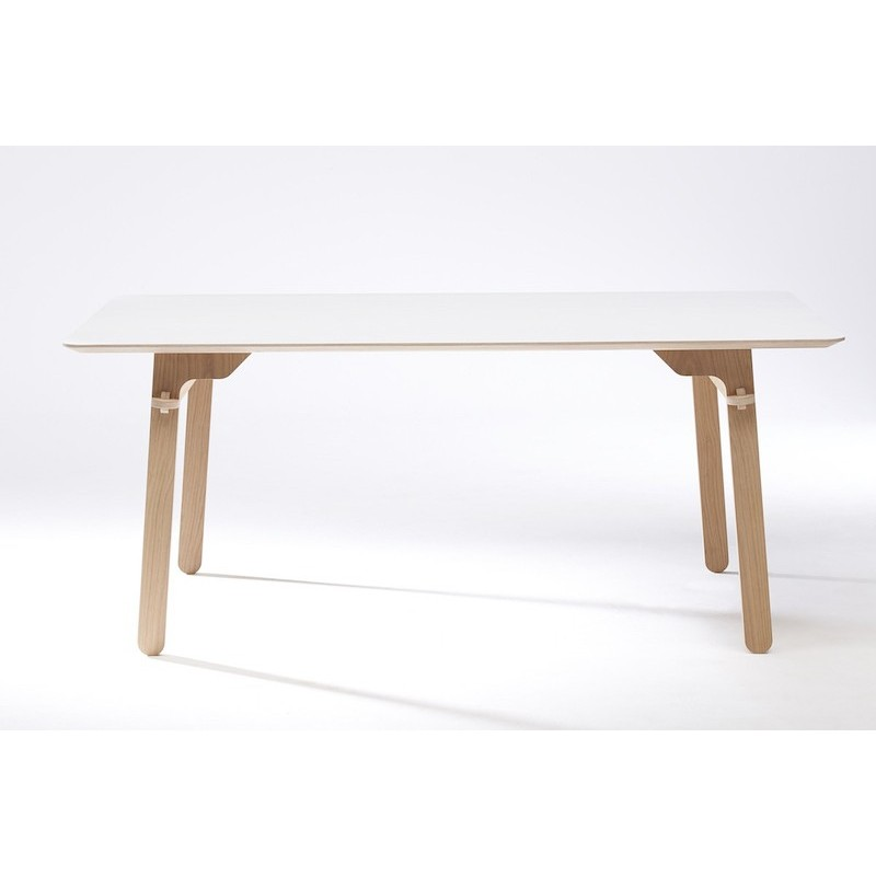TABLE LAB oak and white