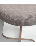 XAPELA Round sand color cushion for stool TABU