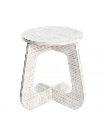 TABU stool natur – vintage style white wood