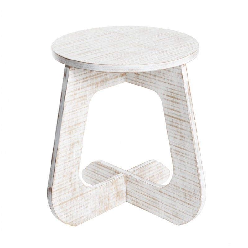 Miraculous Tabu Stool Natur Vintage Style White Wood Gmtry Best Dining Table And Chair Ideas Images Gmtryco