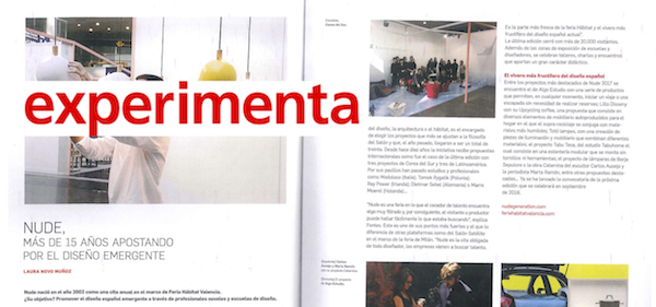 experimenta magazine - NUDE, more than 15 years betting on emerging design